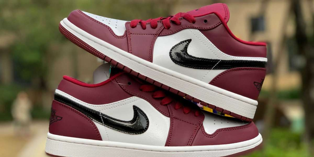 "New Air Jordan 1 Low ""Noble Red"" 553558-604 For Sale 2020"