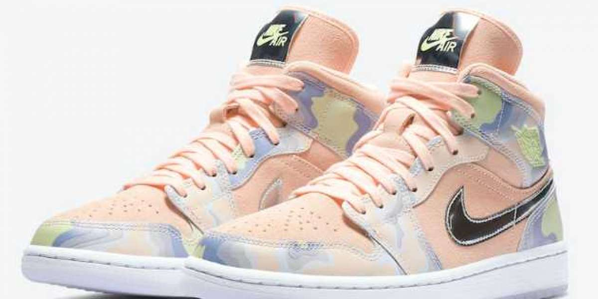 "Cheap Air Jordan 1 Mid SE WMNS ""P(Her)spective"" Washed Coral/Chrome-Light Whistle CW6008-600"