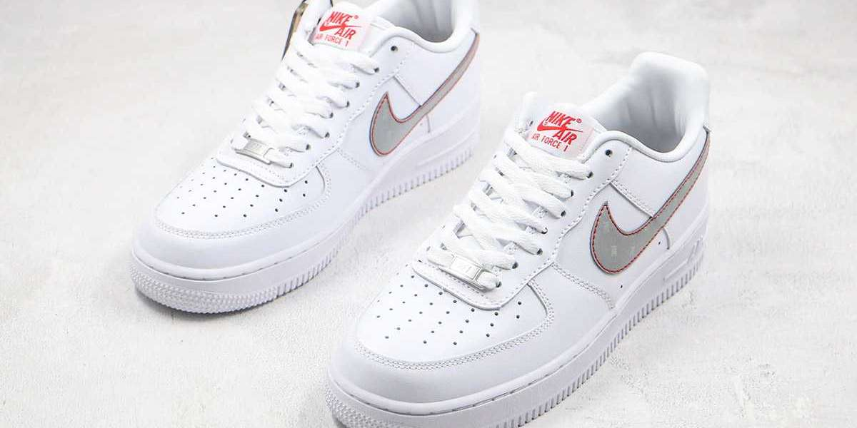 CT2296-100 3M x Nike Air Force 1 Reflective Swoosh White available now