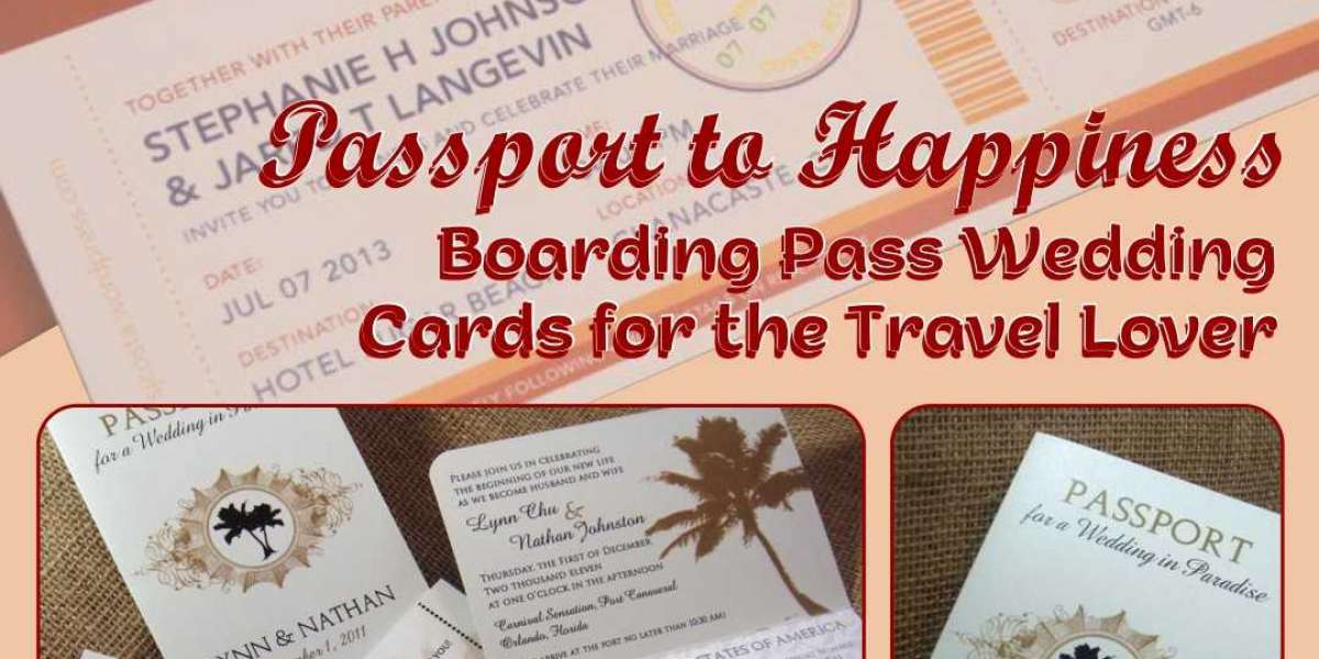 Passport to Happiness – Boarding Pass Wedding Cards for the Travel Lover