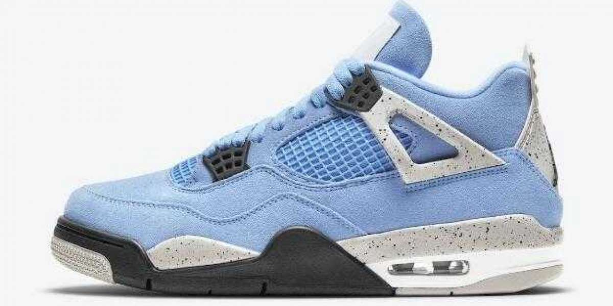 New Fashionable Air Jordan 4 University Blue for Online Sale