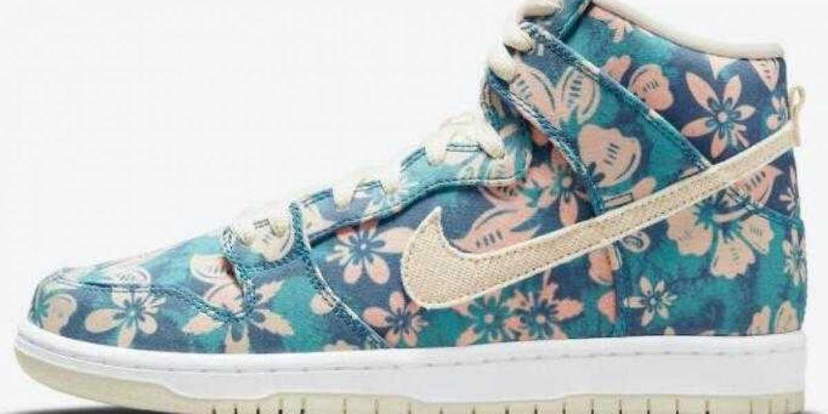 New Arrival Nike SB Dunk High Hawaii Sail Blue Green Aqua CZ2232-300